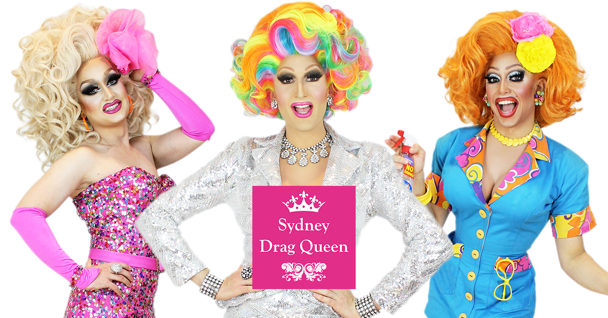 Anita Makeover, Prada Clutch & Ménage A'trois from Sydney Drag Queen the agency